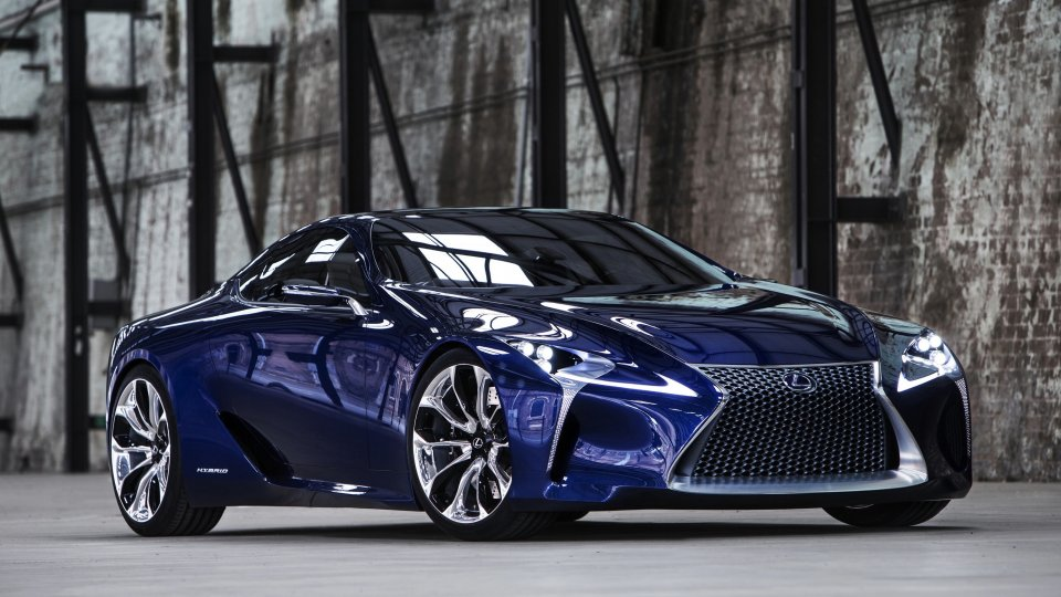 Lexus IF-LC blue concept