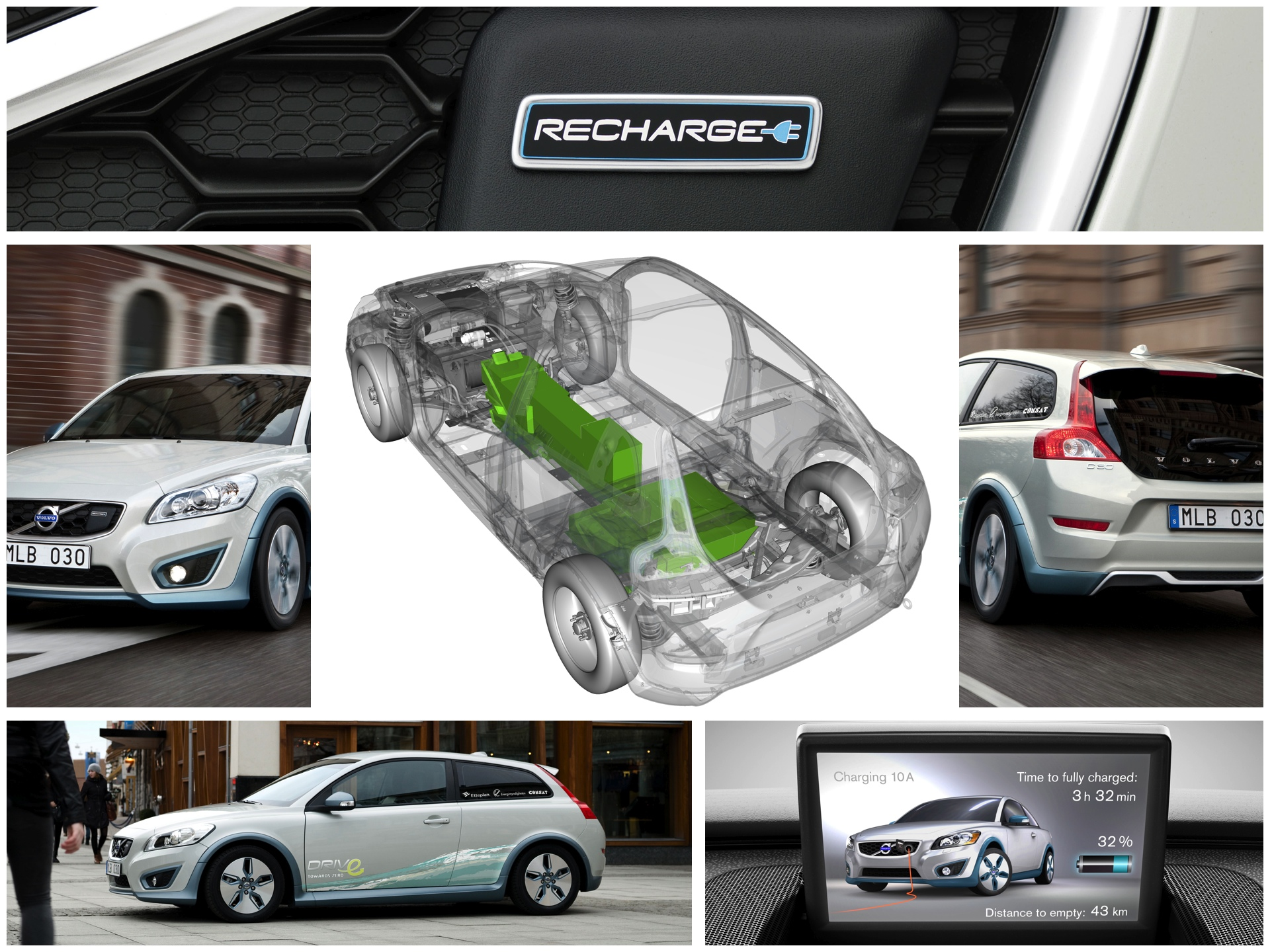 Volvo C30 electric collage