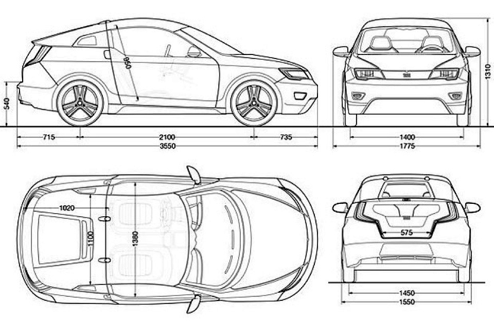 mercedes smart car dimensions
